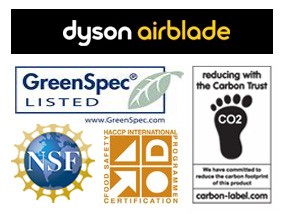Dyson Airblade Certification Logos