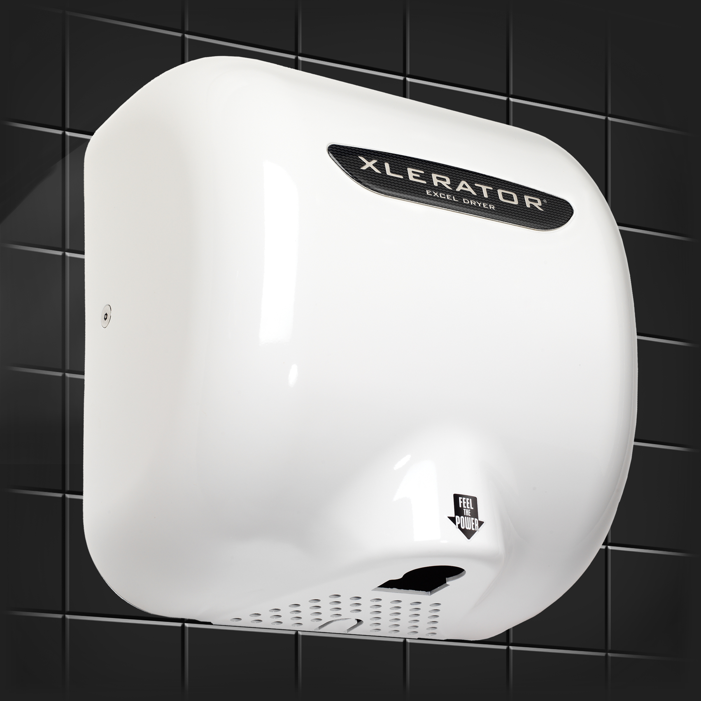 Excel Dryer XLERATOR Hand Dryer XL-BW, White Thermoset Resin (BMC) Cover, Automatic Sensor, Surface